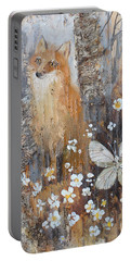 Fox And Butterfly Portable Battery Charger