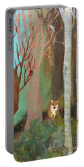 Fox In The Forest  Portable Battery Charger
