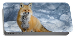 Fox On A Winter Afternoon Portable Battery Charger