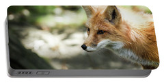 Fox Profile Portable Battery Charger by Lisa L Silva