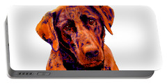 Fox Red Labrador Painting Portable Battery Charger