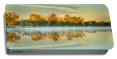 Fox River Above Mchenry Dam At Sunrise Portable Battery Charger