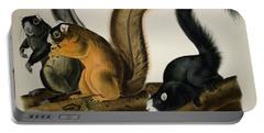 Fox Squirrel Portable Battery Charger by John James Audubon