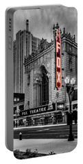 Fox Theater St Louis Mo Bnw Red Neon_dsc0113_16 Portable Battery Charger