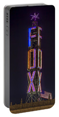 Portable Battery Charger featuring the photograph Fox Theatre Detroit by Nicholas  Grunas