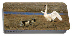Fox Vs Tundra Swan Portable Battery Charger