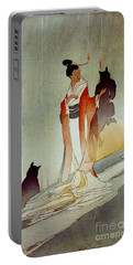 Portable Battery Charger featuring the photograph Fox Woman 1912 by Padre Art