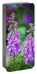 Foxglove Blooms Portable Battery Charger