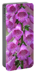 Portable Battery Charger featuring the photograph Foxglove Flowers by Edward Fielding