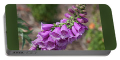 Foxglove Portable Battery Charger by Suzanne Gaff
