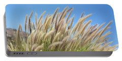Foxtails On A Hill Portable Battery Charger