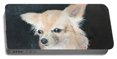 Portable Battery Charger featuring the painting Foxy Lady  by Bonnie Heather