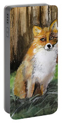 Foxy Lady Portable Battery Charger by Carole Robins