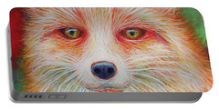 Portable Battery Charger featuring the painting Foxy-loxy by Angela Treat Lyon