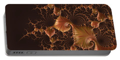 Portable Battery Charger featuring the digital art Fractal Alchemy by Susan Maxwell Schmidt