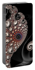 Fractal Contact - Silver Copper Black Portable Battery Charger
