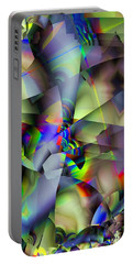 Fractal Cubism Portable Battery Charger by Ron Bissett