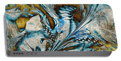 Portable Battery Charger featuring the digital art Fractal Design by Klara Acel