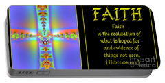 Fractal Faith Hebrews 11 Portable Battery Charger