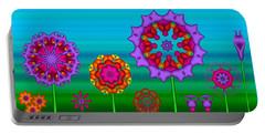 Whimsical Fractal Flower Garden Portable Battery Charger
