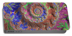 Portable Battery Charger featuring the digital art Fractal Garden by Bonnie Bruno