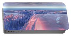 Fractal Glacier Landscape Portable Battery Charger