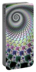Portable Battery Charger featuring the digital art Fractal Spiral Hypnotizing Op Art by Matthias Hauser