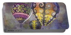 Fractal Trio Portable Battery Charger by Melinda Ledsome