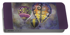 Portable Battery Charger featuring the photograph Fractal Trio by Melinda Ledsome