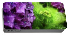 Fractals And Flowers Portable Battery Charger
