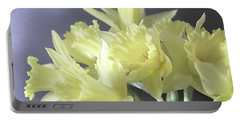 Fragile Daffodils Portable Battery Charger by Jacqi Elmslie