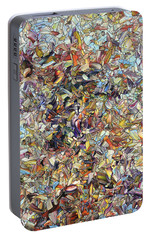 Portable Battery Charger featuring the painting Fragmented Horse by James W Johnson