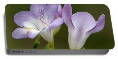 Fragrant Freesias 2 Portable Battery Charger