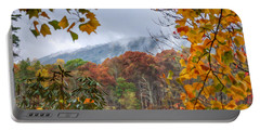Framed By Fall Portable Battery Charger by Kerri Farley