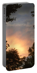 Portable Battery Charger featuring the photograph Framed Fire In The Sky by Sandi OReilly