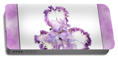 Framed Purple Iris Portable Battery Charger