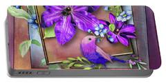 Framed Spring Portable Battery Charger by Larry Bishop