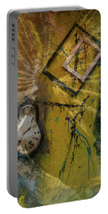 Portable Battery Charger featuring the digital art Framed Time by Kevin Blackburn