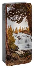 Framing Glen Alpine In Spring Sunset Light Portable Battery Charger