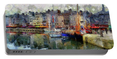 Portable Battery Charger featuring the photograph France Fishing Village by Claire Bull