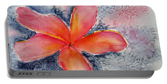 Frangipani Blue Portable Battery Charger