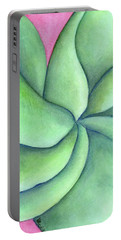 Frangipani Green Portable Battery Charger by Versel Reid