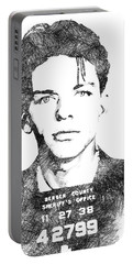 Frank Sinata Bw Portrait Portable Battery Charger by Mihaela Pater