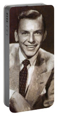Frank Sinatra By Mary Bassett Portable Battery Charger