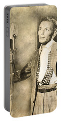 Portable Battery Charger featuring the digital art Frank Sinatra Crooner by Anthony Murphy