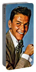 Frank Sinatra, Digital Art By Mary Bassett Portable Battery Charger by Mary Bassett