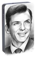 Frank Sinatra Portable Battery Charger by Greg Joens