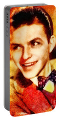 Frank Sinatra, Hollywood Legend By John Springfield Portable Battery Charger by John Springfield