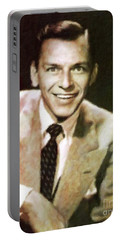 Frank Sinatra, Hollywood Legend By Mary Bassett Portable Battery Charger by Mary Bassett