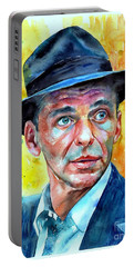 Frank Sinatra In Blue Fedora Portable Battery Charger
